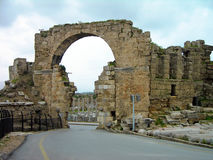 Ruins of the ancient city, Side, Turkey Royalty Free Stock Photo