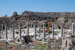 The ruins of the ancient city Side, Turkey Stock Images