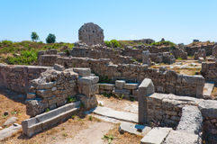The ruins of ancient city of Side, Turkey Stock Photography