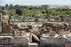 Ruins of ancient city in Side Stock Photo