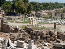 Ruins of ancient city in Side. Stock Image