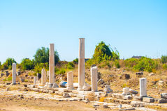 Ruins of ancient city Stock Images