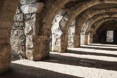 Ruins of Ancient city Smyrna. Izmir, Turkey. Empty stone arcade with columns. Ruins of Ancient city Smyrna. Izmir, Turkey Stock Images
