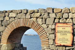 Ruins in ancient city of Sozopol in Bulgaria Stock Photos