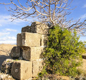 Ruins of Ancient city. In Turkey Stock Photography