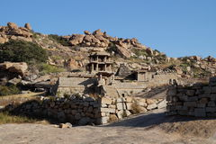 Ruins of ancient city Vijayanagara, India Stock Photography