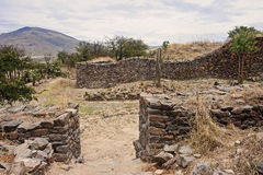 The ruins of the ancient civilization of Wari, near Ayacucho in Royalty Free Stock Image