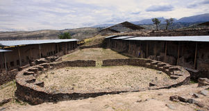 The ruins of the ancient civilization of Wari, near Ayacucho in Royalty Free Stock Photos