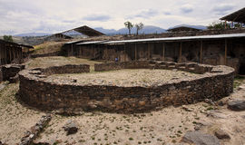 The ruins of the ancient civilization of Wari, near Ayacucho in Stock Photography