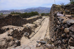 The ruins of the ancient civilization of Wari, near Ayacucho in Royalty Free Stock Images