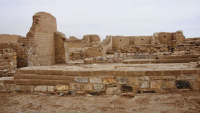 The ruins of the ancient civilization of Wari, near Ayacucho in Royalty Free Stock Photo