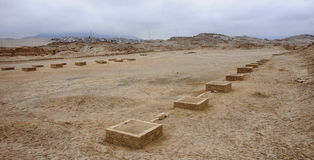 The ruins of the ancient civilization of Wari, near Ayacucho in Stock Photo