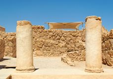 Ruins of ancient colonnade Royalty Free Stock Photos