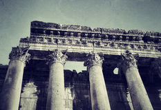 Ruins of ancient columns Royalty Free Stock Image