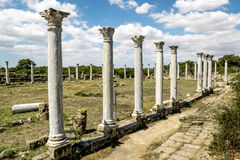 Ruins and ancient columns in the ancient city of Salamis in Fama Royalty Free Stock Photos