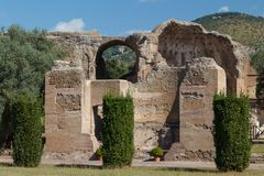 Ruins of the ancient complex of Hadrian Villa, Tivoli Stock Image