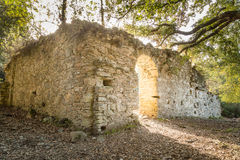 Ruins of ancient convent near Corsoli in Corsica Stock Photo
