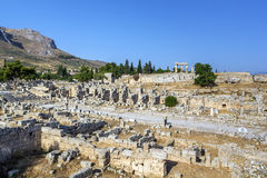 Ruins of Ancient Corinth Stock Images