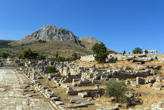 Ruins of Ancient Corinth Royalty Free Stock Images