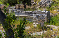 Ruins in Ancient Corinth Stock Image