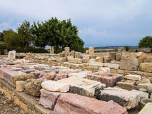 Ruins of ancient Cyprus city Stock Photo