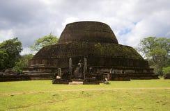 The ruins of the ancient Dagoba Pablo Vihara. Polonnaruwa, Sri Lanka Stock Photos