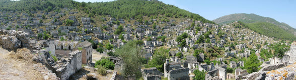 Ruins of ancient dead city kayakoy turkey Stock Photo
