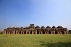 Ruins of 500 years old elephant stable in India Stock Images