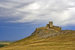 Ruins of ancient Enisala. Royal castle in Romania Stock Images