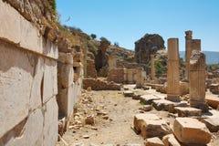 Ruins of ancient Epesus Royalty Free Stock Photo
