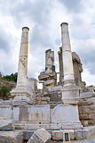 Ruins of ancient Ephesus Stock Images