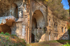Ruins of ancient fort Tarakanov Royalty Free Stock Photo
