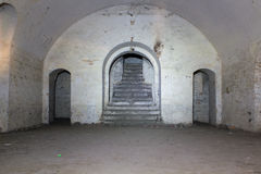 Ruins of ancient fort Tarakanov Stock Photo