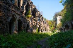 Ruins of ancient fort Tarakanov Royalty Free Stock Images
