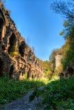 Ruins of ancient fort Tarakanov Royalty Free Stock Image