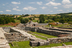 Ruins of the ancient fortified palace Romuliana & x28;now Gamzigrad& x29;. Serbia royalty free stock photos