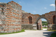 Ruins of the ancient fortified palace Romuliana & x28;now Gamzigrad& x29;. Serbia stock image