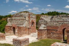 Ruins of the ancient fortified palace Romuliana & x28;now Gamzigrad& x29;. Serbia royalty free stock photography
