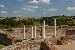 Ruins of the ancient fortified palace Romuliana & x28;now Gamzigrad& x29;. Serbia stock images