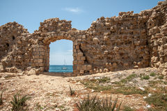 The ruins  of the ancient fortress of Acre Royalty Free Stock Photo