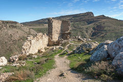 the ruins of an ancient fortress in Balaklava Royalty Free Stock Image