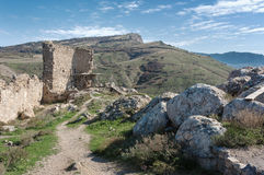 The ruins of an ancient fortress in Balaklava Stock Photography