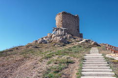 The ruins of an ancient fortress in Balaklava Royalty Free Stock Photos