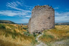 The ruins of ancient fortress Calamita in Inkerman, Crimea.  Stock Photography