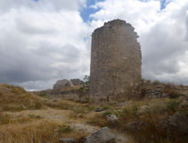 Ruins of the ancient fortress Calamita. In Inkerman, Crimea Royalty Free Stock Photo