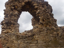 Ruins of the ancient fortress Calamita Royalty Free Stock Images