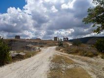 Ruins of the ancient fortress Calamita Royalty Free Stock Image