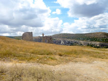 Ruins of the ancient fortress Calamita in Inkerman. Crimea Stock Photos