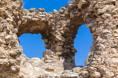 Ruins of the ancient fortress Calamita in Inkerman. Crimea Stock Images