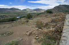 The ruins of the ancient fortress. Royalty Free Stock Images